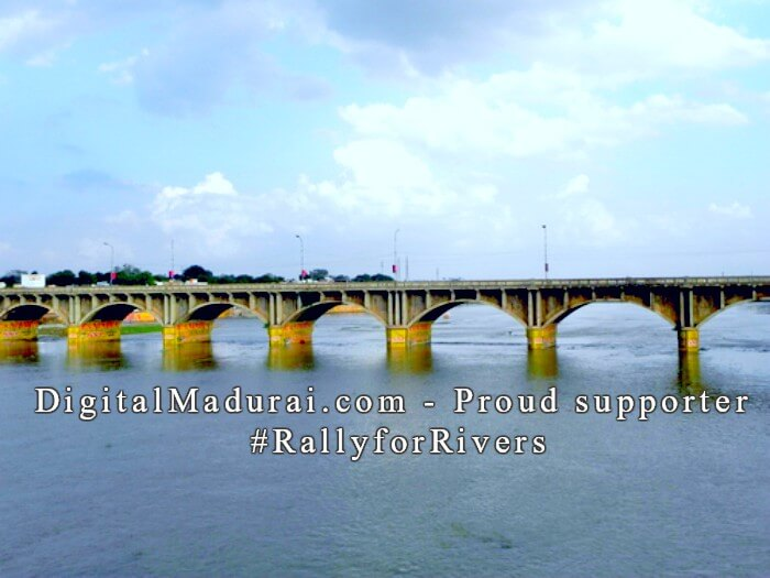 Rally for Rivers. Let us get back our river Vaigai. #RallyforRivers